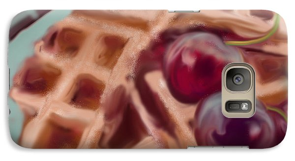 Galaxy Case featuring the painting Cherry Waffles by Jean Pacheco Ravinski