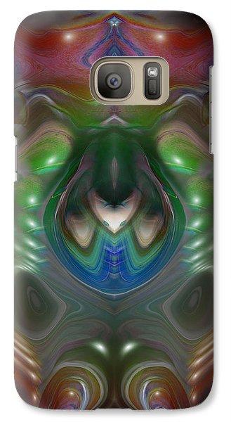 Galaxy Case featuring the digital art Cherub 5 by Otto Rapp