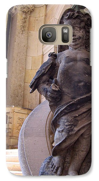 Galaxy Case featuring the photograph Cherub At The Entrance Of Zwinger Palace - Dresden Germany by Jordan Blackstone