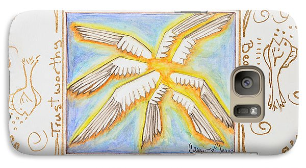 Galaxy Case featuring the painting Cherubim by Cassie Sears