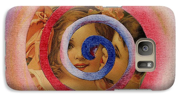 Galaxy Case featuring the mixed media Cherubs by Christine Perry