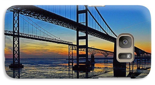 Chesapeake Bay Bridge Reflections Galaxy S7 Case