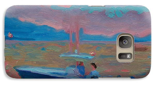 Galaxy Case featuring the painting Chesapeake Bay Twilight With Moon by Thomas Bertram POOLE
