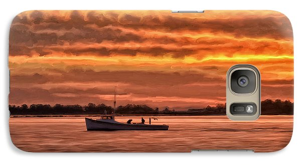 Galaxy Case featuring the painting Chesapeake Watermen by Michael Pickett