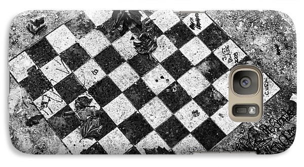 Galaxy Case featuring the photograph Chess Table In Rain by Dave Beckerman