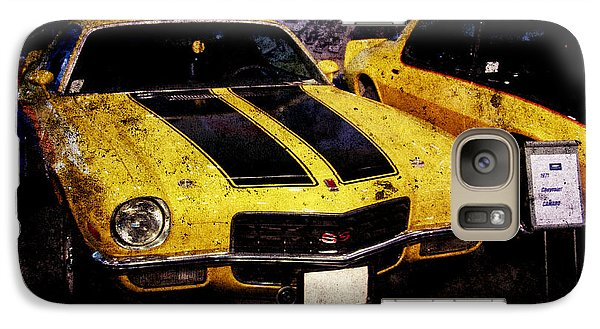 Galaxy Case featuring the photograph Chevrolet Camaro by Mohamed Elkhamisy