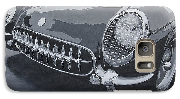 Galaxy Case featuring the painting Chevrolet Corvette 1954 by Anna Ruzsan