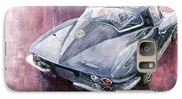 Chevrolet Corvette Sting Ray 1965 Galaxy S7 Case by Yuriy  Shevchuk