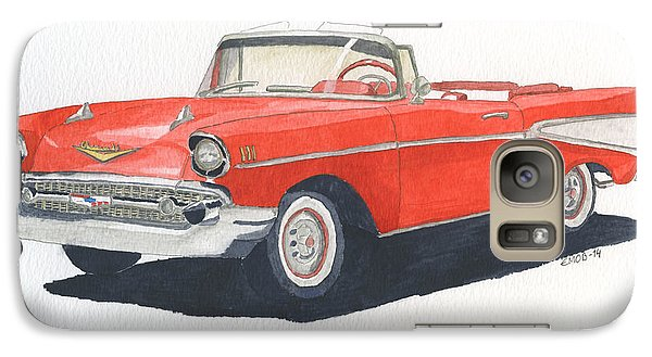 Galaxy Case featuring the painting Chevy Bel Air Convertible 57 by Eva Ason