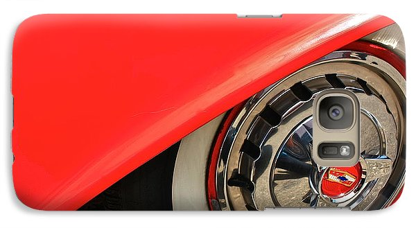 Galaxy Case featuring the photograph 1955 Chevy Rim by Linda Bianic