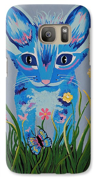Galaxy Case featuring the painting Chibi by Kathleen Sartoris