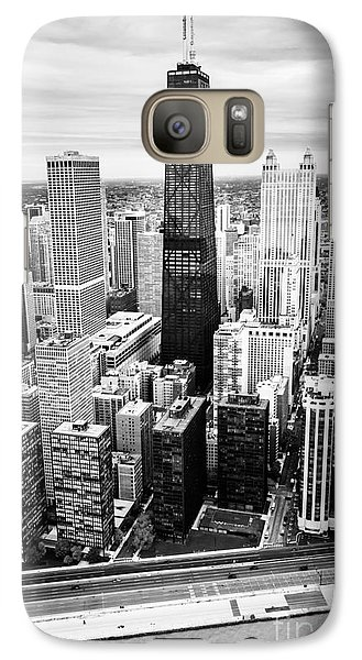 Chicago Aerial With Hancock Building In Black And White Galaxy S7 Case