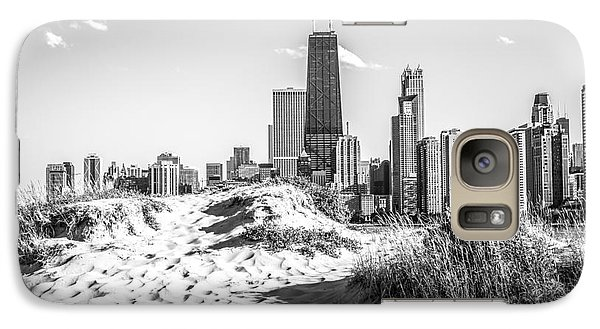 Chicago Beach And Skyline Black And White Photo Galaxy S7 Case