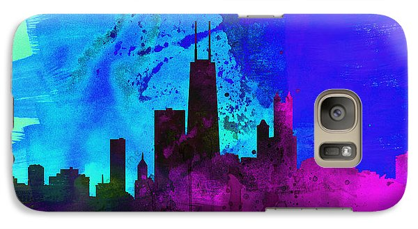 Chicago City Skyline Galaxy Case by Naxart Studio
