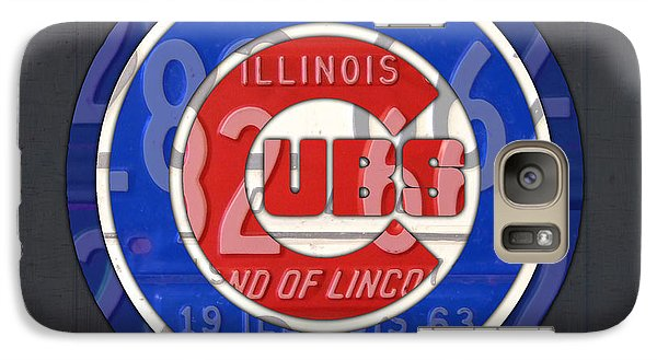 Chicago Cubs Baseball Team Retro Vintage Logo License Plate Art Galaxy S7 Case by Design Turnpike