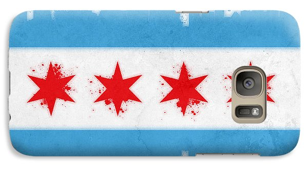 Chicago Skyline Galaxy S7 Case - Chicago Flag by Mike Maher