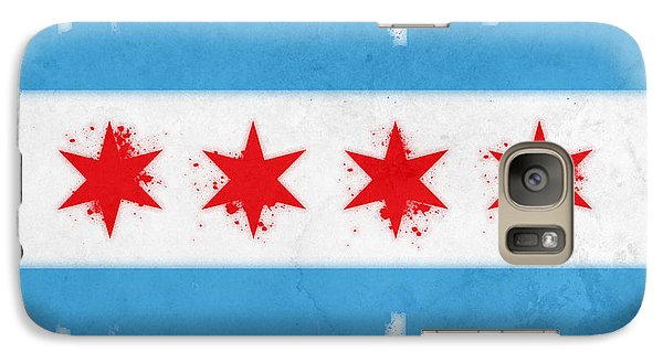 Chicago Flag Galaxy Case by Mike Maher