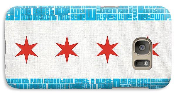 Chicago Flag Neighborhoods Galaxy S7 Case