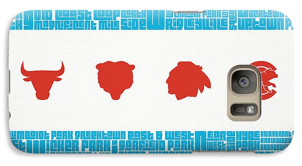 Chicago Flag Sports Teams Galaxy Case by Mike Maher