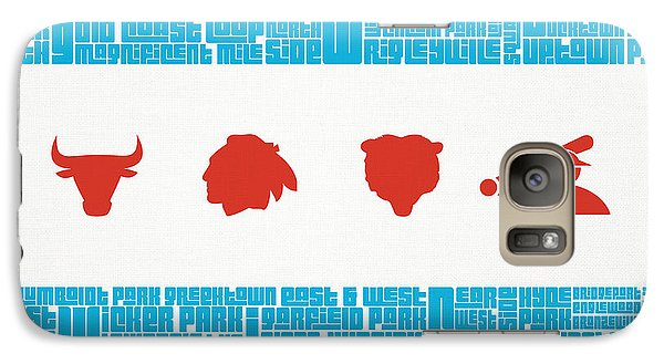 Chicago Flag Sports Teams V2 Galaxy Case by Mike Maher