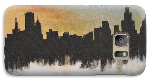 Galaxy Case featuring the painting Chicago by Gary Smith