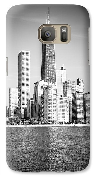 Chicago Hancock Building Black And White Picture Galaxy S7 Case