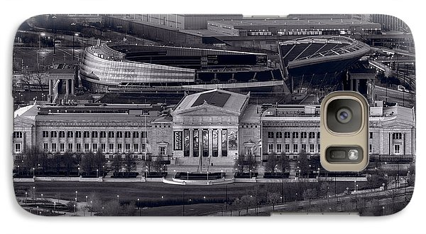 Soldier Field Galaxy S7 Case - Chicago Icons Bw by Steve Gadomski