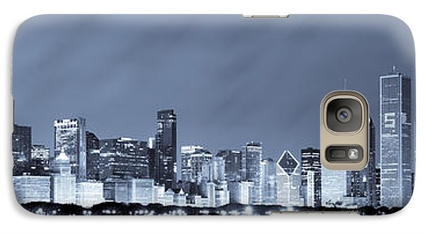 Chicago In Blue Galaxy S7 Case by Sebastian Musial
