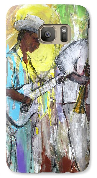 Galaxy Case featuring the painting Chicago Jam by Keith Thue