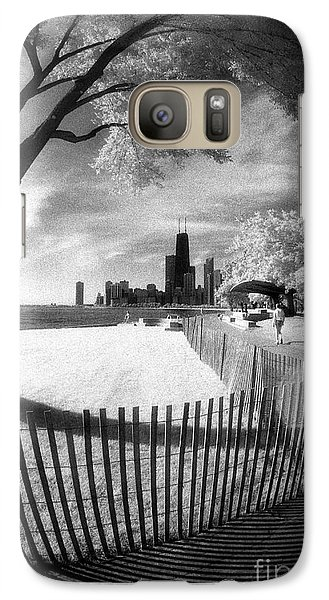 Galaxy Case featuring the photograph Chicago Lakefront Infrared by Martin Konopacki