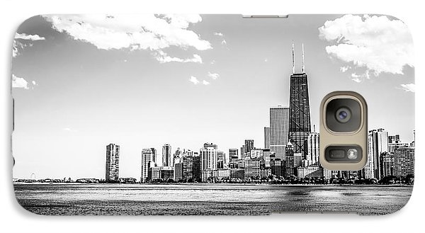 Chicago Lakefront Skyline Black And White Picture Galaxy S7 Case