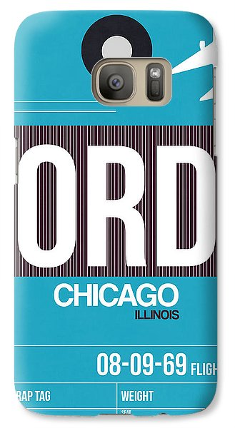 Sears Tower Galaxy S7 Case - Chicago Luggage Poster 1 by Naxart Studio