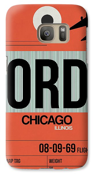 Sears Tower Galaxy S7 Case - Chicago Luggage Poster 2 by Naxart Studio