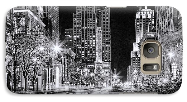 Chicago Michigan Avenue Light Streak Black And White Galaxy S7 Case by Christopher Arndt