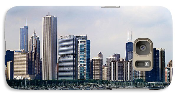 Galaxy Case featuring the photograph Chicago Panorama by Milena Ilieva