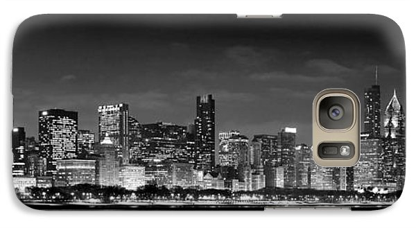 Chicago Skyline At Night Black And White Galaxy S7 Case