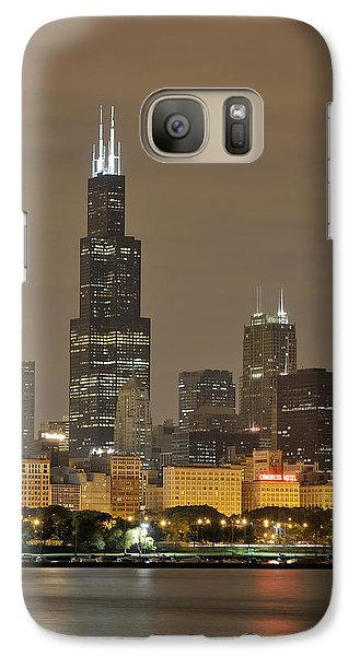 Chicago Skyline At Night Galaxy S7 Case by Sebastian Musial