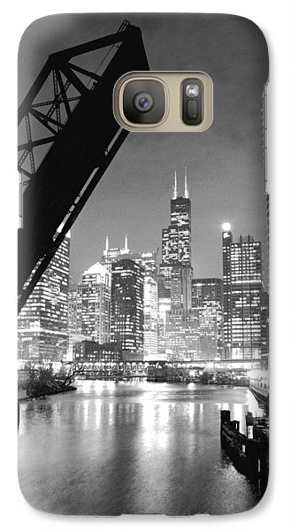 Chicago Skyline - Black And White Sears Tower Galaxy Case by Horsch Gallery