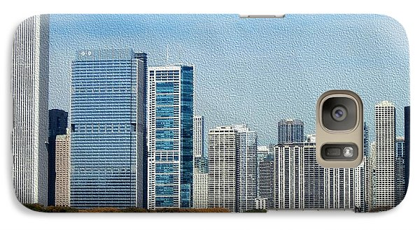 Galaxy Case featuring the photograph Chicago Skyline by Kathie Chicoine