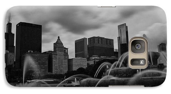Galaxy Case featuring the photograph Chicago City Skyline by Miguel Winterpacht