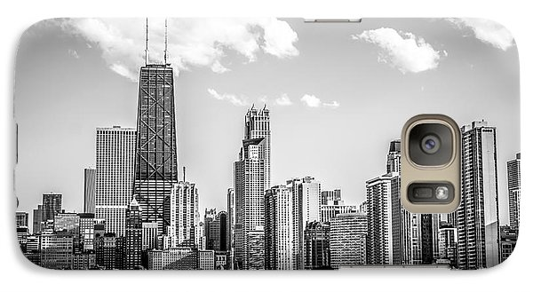 Chicago Skyline Picture In Black And White Galaxy S7 Case