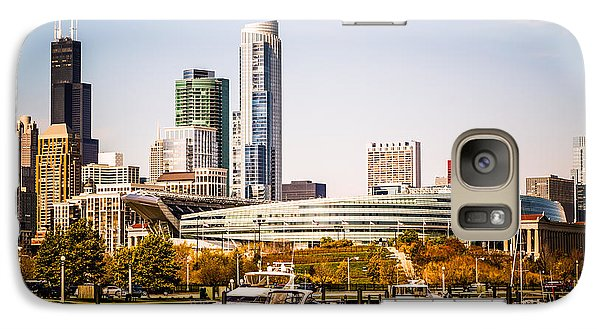 Soldier Field Galaxy S7 Case - Chicago Skyline With Soldier Field by Paul Velgos