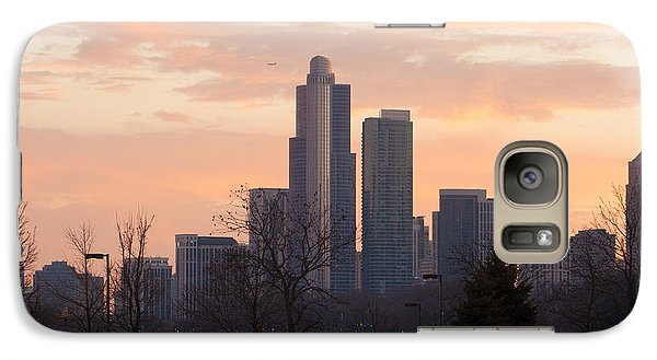 Galaxy Case featuring the photograph Chicago Skyscrapers In Sunset by Dawn Romine