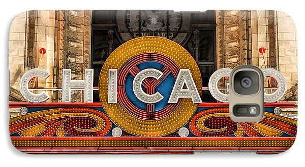 Chicago Theatre Marquee Sign Galaxy S7 Case by Christopher Arndt