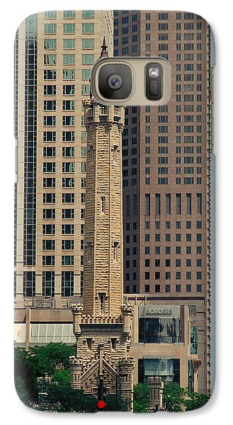 Galaxy Case featuring the photograph Chicago Water Tower by Peg Urban