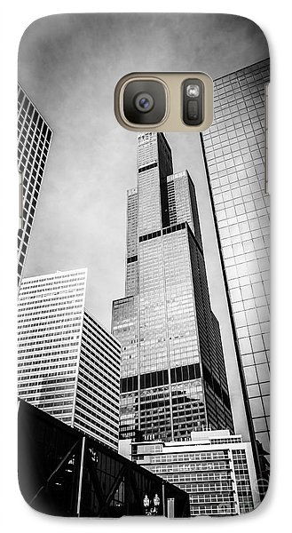 Chicago Willis-sears Tower In Black And White Galaxy S7 Case