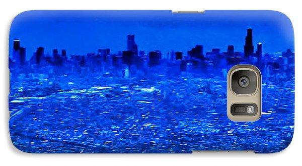 Galaxy Case featuring the photograph Chicago Winter Landing by Nigel Fletcher-Jones