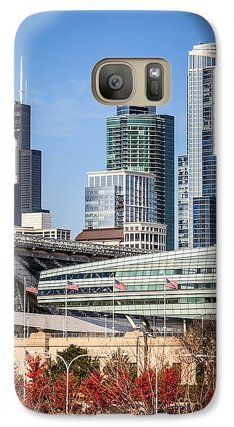 Soldier Field Galaxy S7 Case - Chicago With Soldier Field And Sears Tower by Paul Velgos