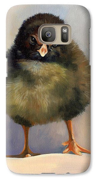 Galaxy Case featuring the painting Chick With Attitude by Alecia Underhill