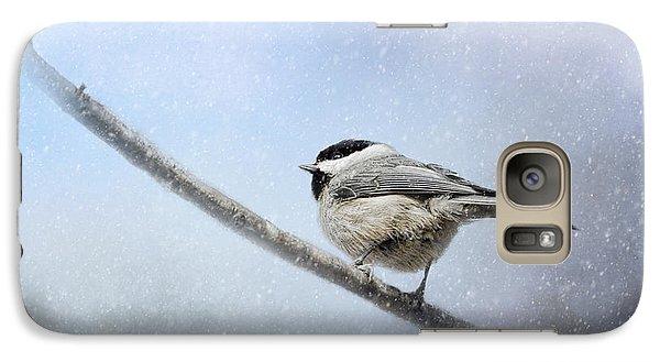 Chickadee In The Snow Galaxy S7 Case by Jai Johnson